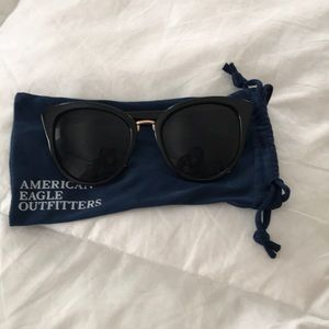 American Eagle black and gold trimmed sunglasses